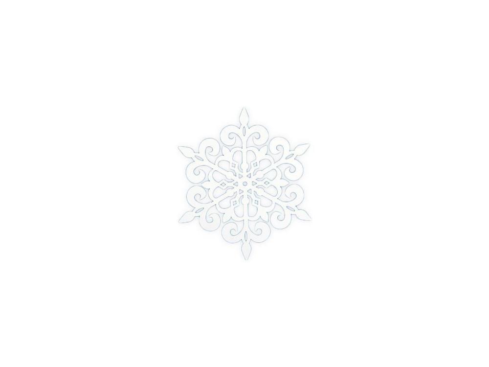 Zawieszki dekoracje papierowe Śnieżynka 1 biała 13 cm