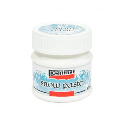 Pasta strukturalna imitująca śnieg - Pentart - 50 ml