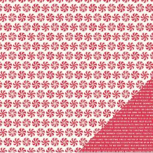Papier dwustronny Home For Christmas - Peppermint Swirl