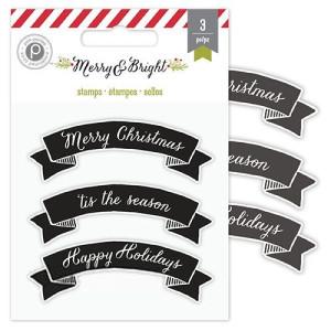 Stemple akrylowe Merry Christmas 3 szt.