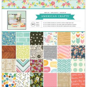 Zestaw papierów 30 x 30 cm Best of American Crafts 180 szt.
