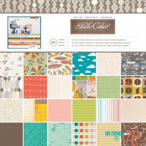 Zestaw papierów 30 x 30 cm Best of Studio Calico 180 szt.