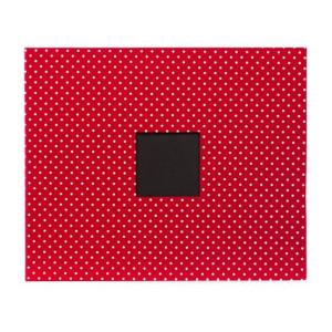 Album 30 x 30 cm American Craft czerwony w kropki z otworem
