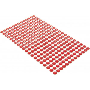 Kryształki samoprzylepne 6 mm 260 szt. czerwone
