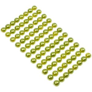 Perły samoprzylepne 8 mm 88 szt. zielony