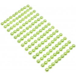 Perły samoprzylepne 8 mm - zielone, 130 szt.