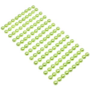 Perły samoprzylepne 8 mm 130 szt. zielone