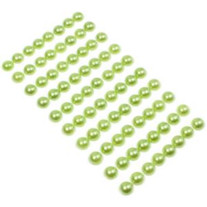 Perły samoprzylepne 10 mm 80 szt. zielone