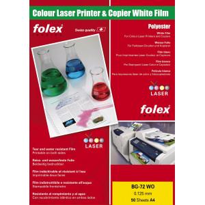 Folia biała do drukarek laser kolor 50 ark. A4 Folex BG-72 WO