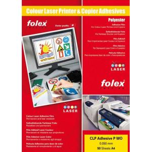 Folia samoprzylepna przeź. laser kolor 50 A4 Folex CLP ADHESIVE P CL