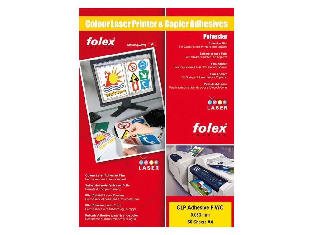 Clear permanent self-adhesive film 50 sheets FOLEX