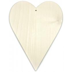 Serce podłużne drewniane 17 cm