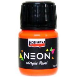 Farba akrylowa, neonowa - Pentart - pomarańczowa, 30 ml