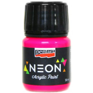 Farba neonowa PENTART 30 ml różowa
