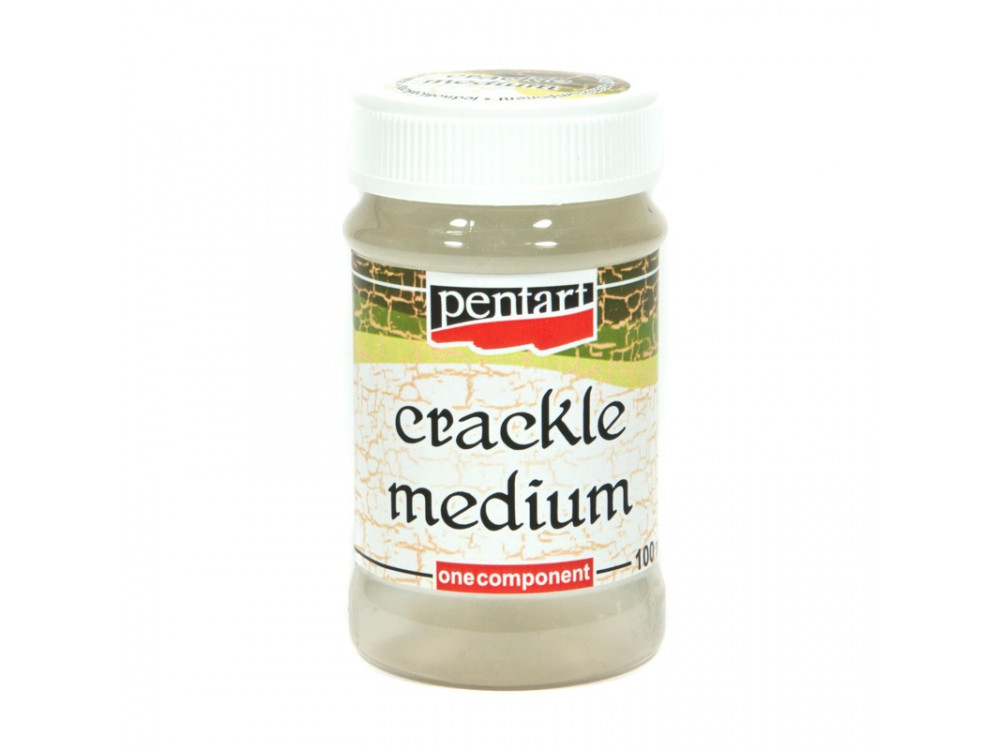Lakier do spękań Crackle Medium - Pentart - jednoskładnikowy, 100 ml