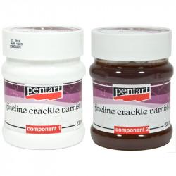 Lakier do delikatnych spękań - Pentart - dwuskładnikowy, 2 x 230 ml