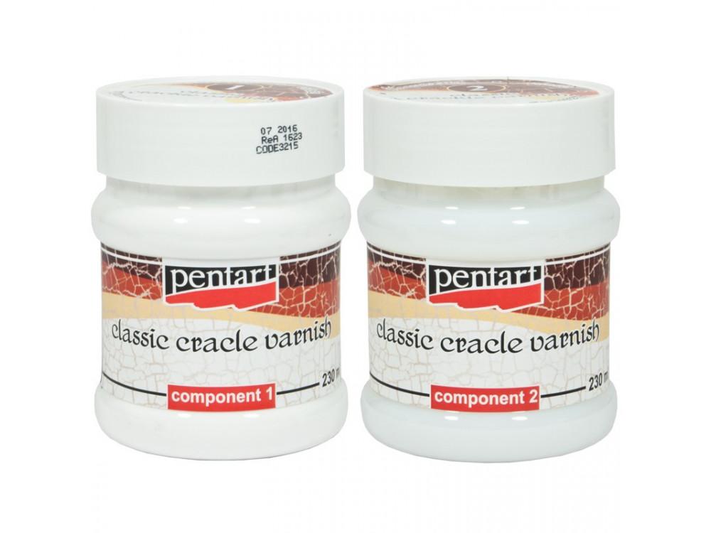 Lakier do spękań - Pentart - dwuskładnikowy, 2 x 230 ml