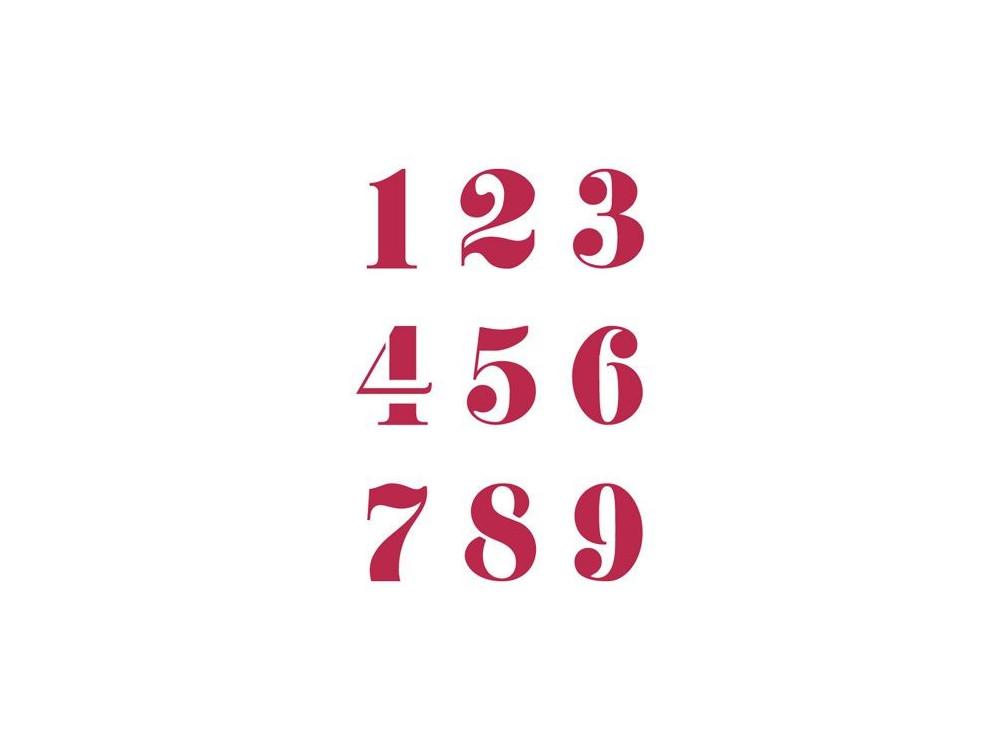 Szablon A4 - Stamperia - Cyfry