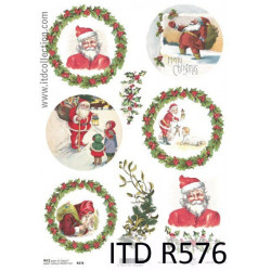 Decoupage paper A4 - ITD Collection - rice, R576