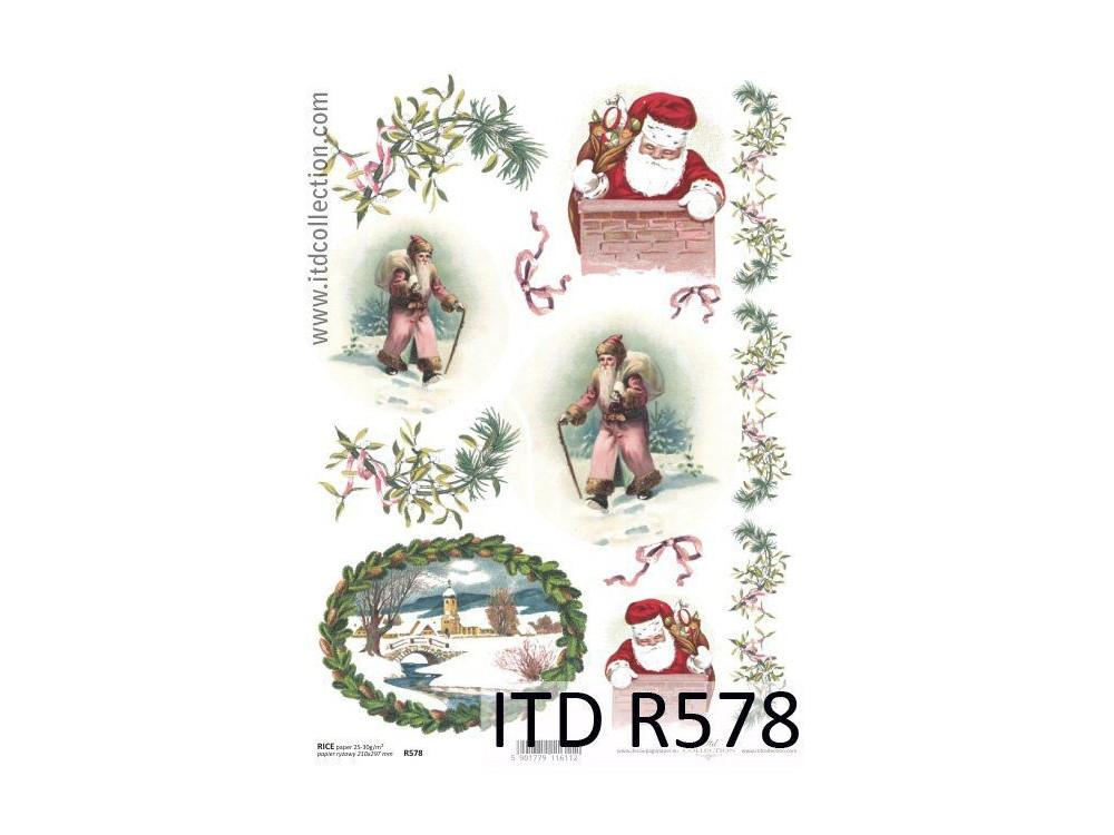 Papier do decoupage A4 - ITD - ryżowy, R578