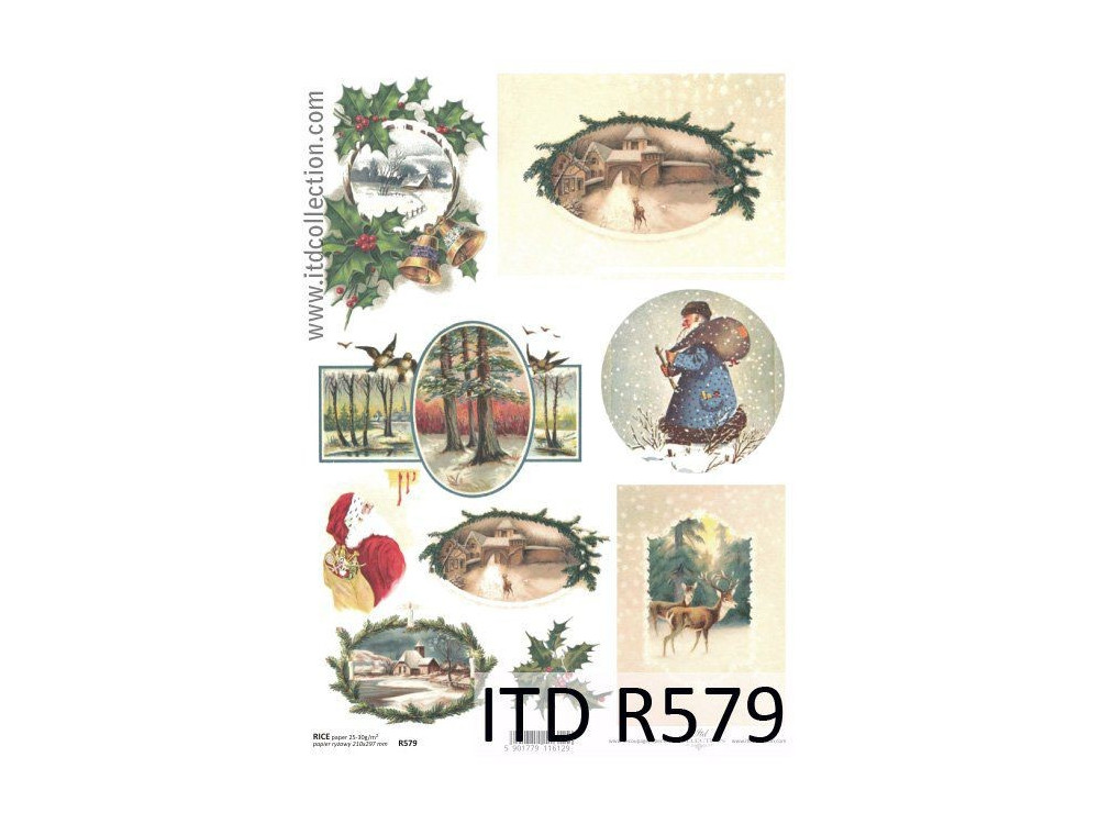 Decoupage paper A4 - ITD Collection - rice, R579