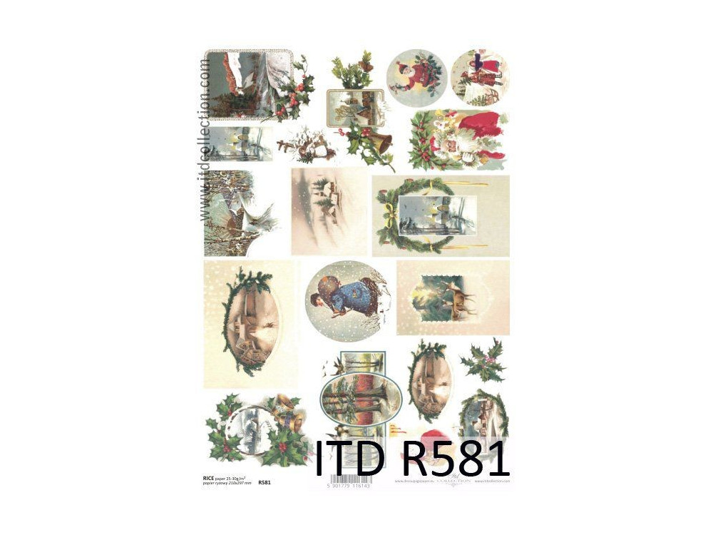Decoupage paper A4 - ITD Collection - rice, R581