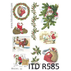 Decoupage paper A4 - ITD Collection - rice, R585
