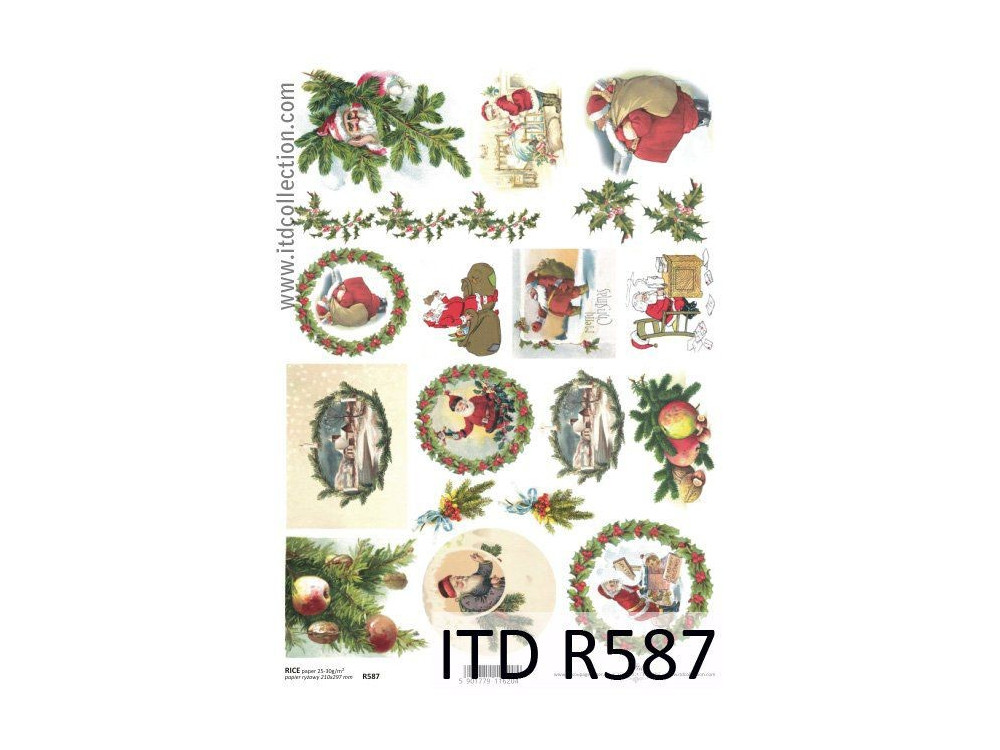 Decoupage paper A4 - ITD Collection - rice, R587