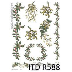 Papier do decoupage A4 - ITD - ryżowy, R588
