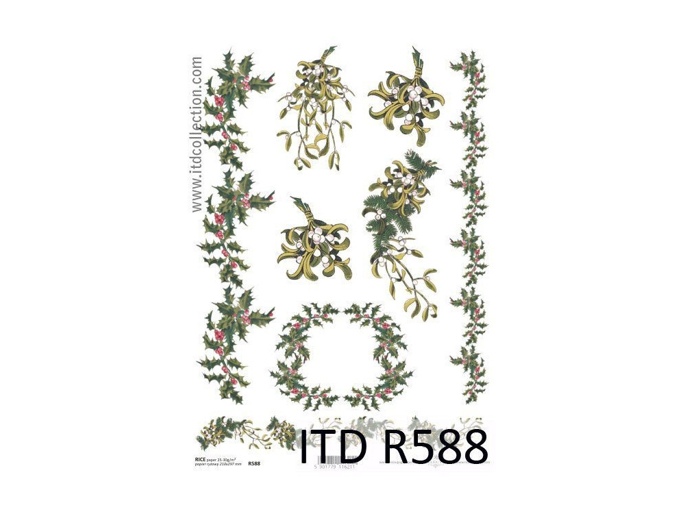 Decoupage paper A4 - ITD Collection - rice, R588