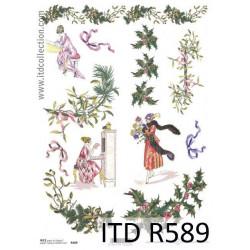 Papier do decoupage A4 - ITD - ryżowy, R589