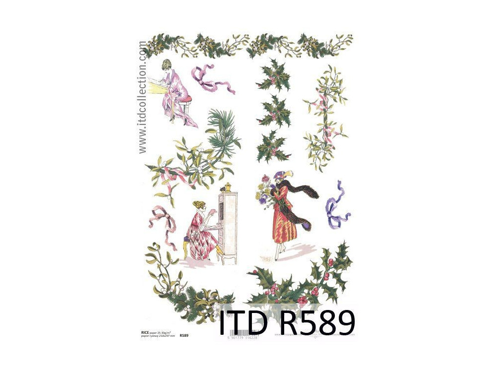 Papier do decoupage A4 - ITD - ryżowy, R589