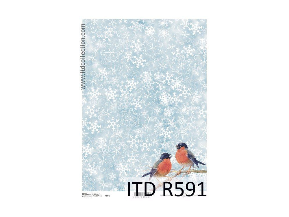 Decoupage paper A4 - ITD Collection - rice, R591