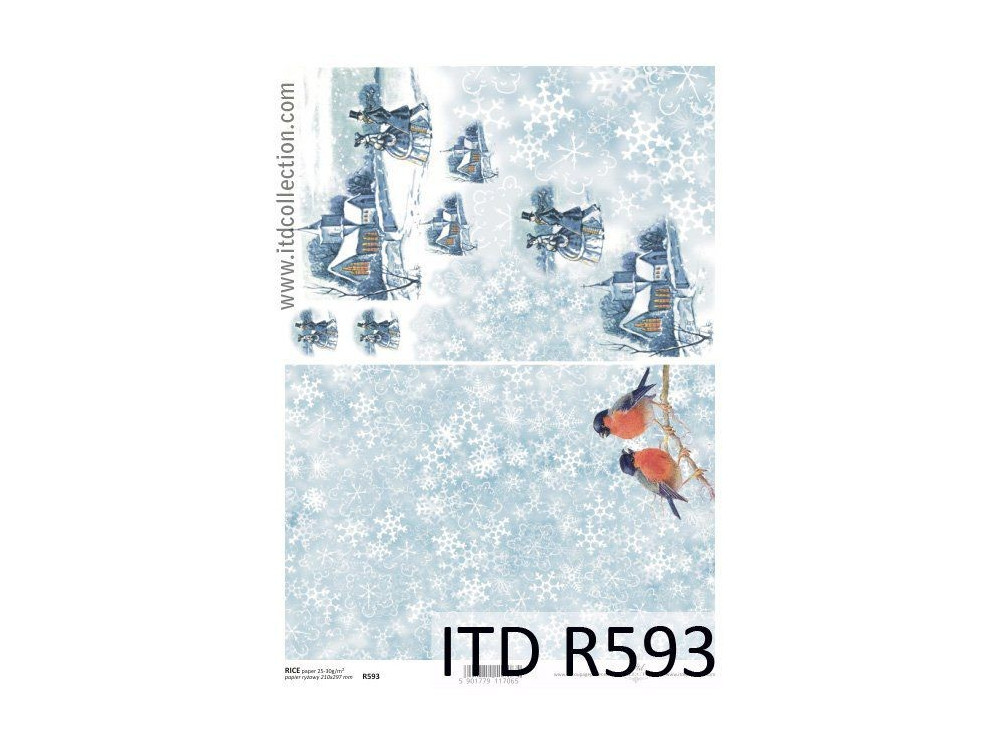 Decoupage paper A4 - ITD Collection - rice, R593