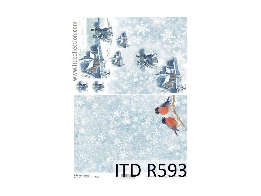 Papier do decoupage A4 - ITD - ryżowy, R593