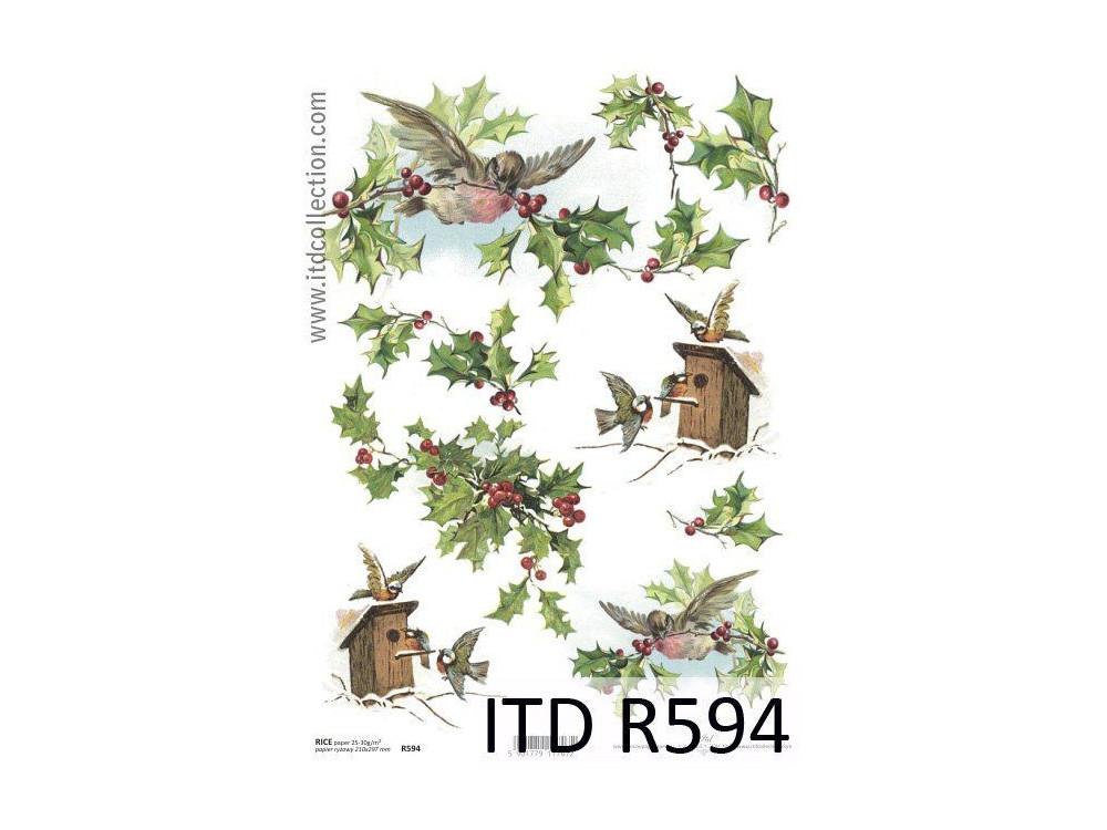 Papier do decoupage A4 - ITD - ryżowy, R594