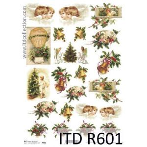 Papier ryżowy decoupage A4 R601