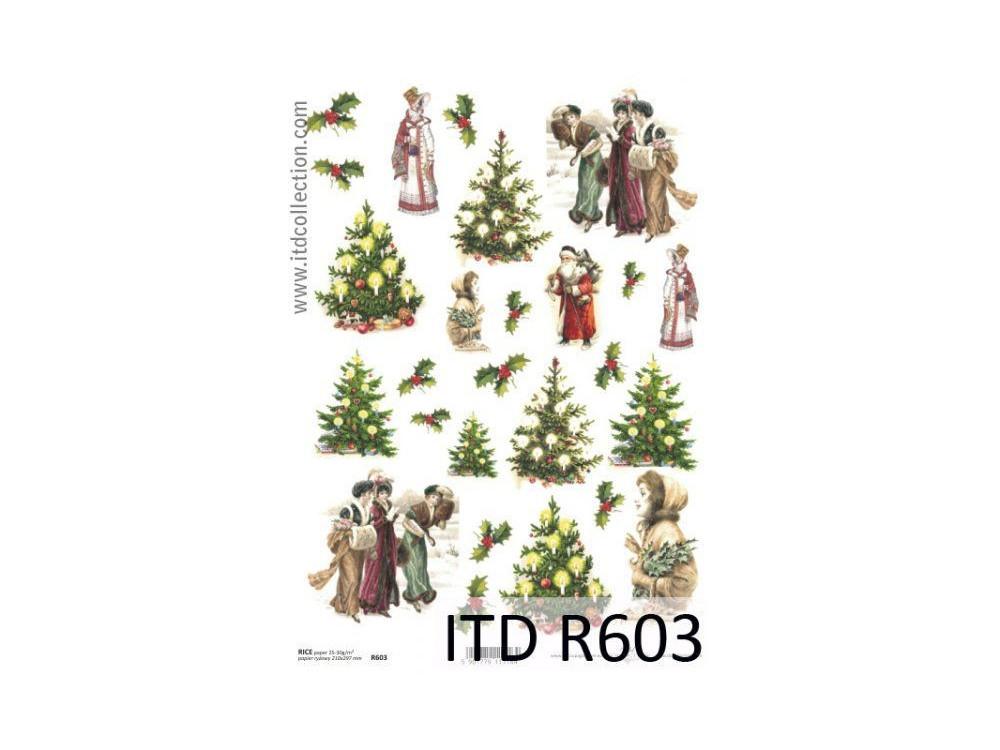 Papier do decoupage A4 - ITD - ryżowy, R603