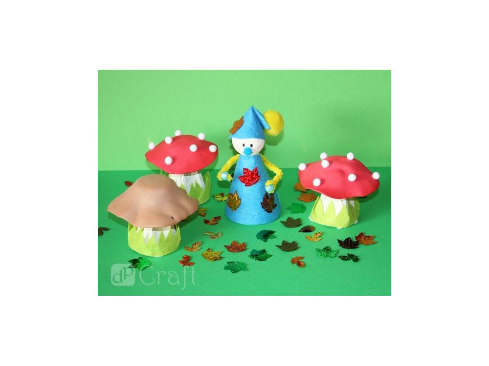 Pompony akrylowe - DpCraft - mix kolorów, 300 szt.