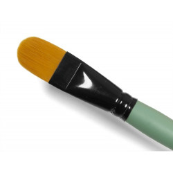 Cat's tongue, synthetic brush - Renesans - short handle, no. 16
