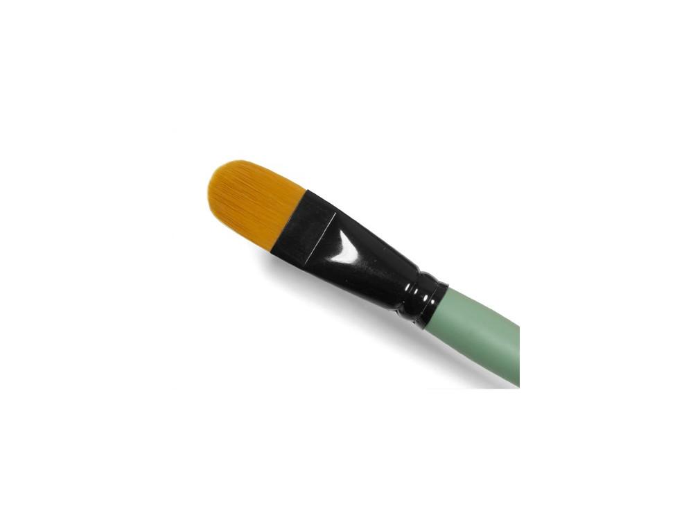Cat's tongue, synthetic brush - Renesans - short handle, no. 22