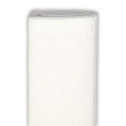 Bibuła marszczona, krepina - biała, 50 x 200 cm