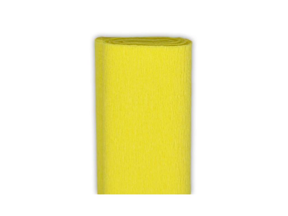 Bibuła marszczona, krepina - jasnożółta, 50 x 200 cm