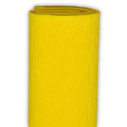 Bibuła marszczona, krepina - żółta, 50 x 200 cm