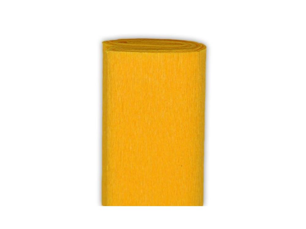 Bibuła marszczona, krepina - ciemnożółta, 50 x 200 cm