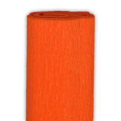 Bibuła marszczona, krepina - pomarańczowa, 50 x 200 cm