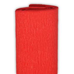 Bibuła marszczona, krepina - ciemnopomarańczowa, 50 x 200 cm