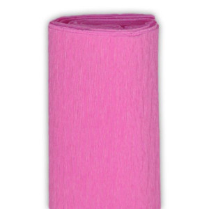 Bibuła marszczona 50 x 250 cm różowa jodł.