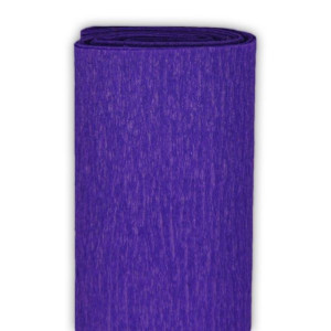 Bibuła marszczona 50 x 250 cm fioletowa ciemna