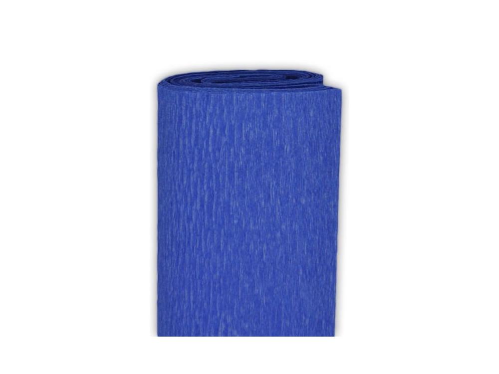 Bibuła marszczona, krepina - ciemnoniebieska, 50 x 200 cm